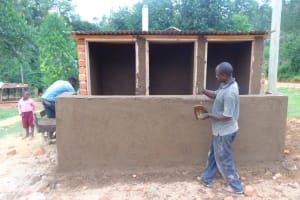 The Water Project: Kipchorwa Primary School -  Cementing Latrines
