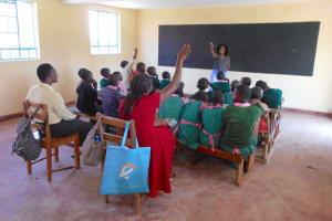 The Water Project: Ebukhayi Primary School -  Trainer Georgina Calls On Trainer Christine For An Example