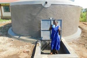 The Water Project: Mulwanda Mixed Primary School -  Enjoying A Fresh Drink