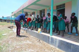 The Water Project: Ebukhayi Primary School -  Handwashing Example