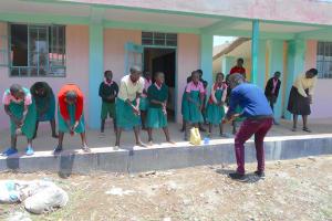 The Water Project: Ebukhayi Primary School -  Handwashing With Trainer Ian