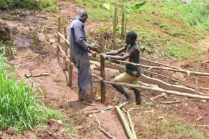 The Water Project: Busichula Community, Marko Spring -  Fencing