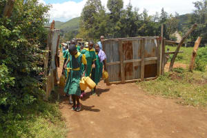 The Water Project: St. Peters Bwanga Primary School -  Students Back At School With Water