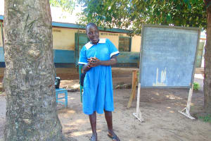 The Water Project: St. Joseph's Lusumu Primary School -  A Pupil Helps Lead An Activity