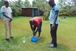 The Water Project: Jivovoli Community, Magumba Spring -  Handwashing
