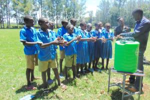 The Water Project: St. Joseph's Lusumu Primary School -  Handwashing Demonstration