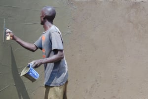 The Water Project: Kosiage Primary School -  Plastering Interior Tank Walls