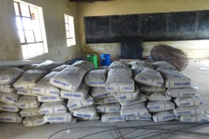 The Water Project: Mwichina Primary School -  Materials Stored In Classroom