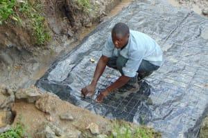 The Water Project: Buyangu Community, Mukhola Spring -  Foundation Setting