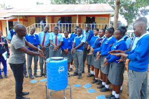 The Water Project: Banja Secondary School -  Learning Steps Of Handwashing