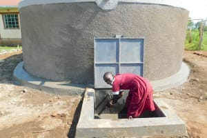The Water Project: Mulwanda Mixed Primary School -  Enjoying Clean Water From The Tank