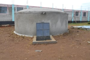 The Water Project: Ebukhayi Primary School -  Newly Completed Rain Tank