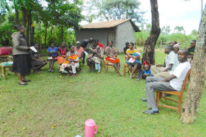 The Water Project: Imbinga Community, Imbinga Spring -  Trainer Joan Were Kicks Off The Event
