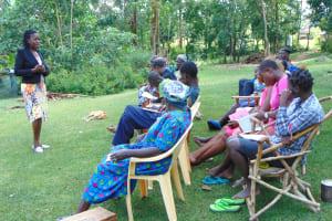 The Water Project: Buyangu Community, Mukhola Spring -  Training Begins Led By Christine Masinde