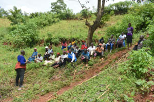 The Water Project: Busichula Community, Marko Spring -  Training Participants Meet Under A Tree