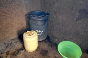 The Water Project: St. Peters Bwanga Primary School -  Water Storage Containers In The Kitchen