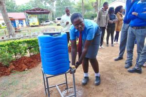 The Water Project: Banja Secondary School -  Pupil Rodah Handwashing