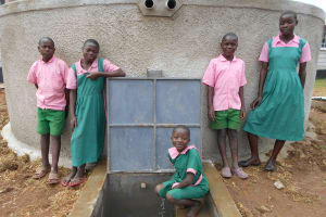 The Water Project: Ebukhayi Primary School -  Smiles At The Rain Tank