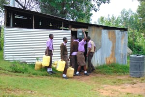 The Water Project: Friends Musiri Secondary School -  Students Deliver Water To The Kitchen