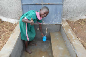 The Water Project: Ebukhayi Primary School -  Thumbs Up For A Fresh Drink