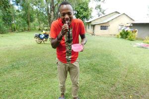 The Water Project: Imbinga Community, Imbinga Spring -  Demonstrating Toothbrushing