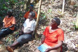The Water Project: Shivembe Community, Murumbi Spring -  Women Listening At Training