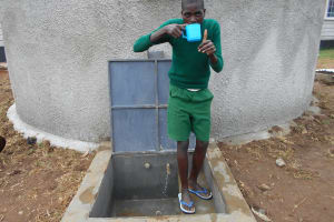 The Water Project: Ebukhayi Primary School -  Enjoying The Water