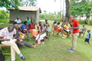 The Water Project: Imbinga Community, Imbinga Spring -  Toothbrushing Demonstration