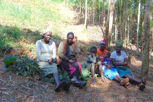 The Water Project: Shivembe Community, Murumbi Spring -  Women And Kids At Training