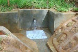 The Water Project: Kimarani Community, Kipsiro Spring -  Clean Water Flowing