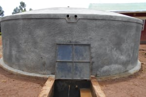 The Water Project: Ebukhuliti Primary School -  Water Flows From New Rain Tank