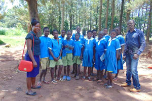 The Water Project: St. Joseph's Lusumu Primary School -  Pupils With Trainers