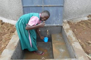 The Water Project: Ebukhayi Primary School -  Getting A Drink