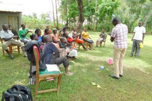 The Water Project: Imbinga Community, Imbinga Spring -  Handwashing Session With Wilson And Jonathan