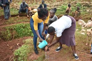 The Water Project: Busichula Community, Marko Spring -  Handwashing Demonstration With Trainer Joyce Naliaka