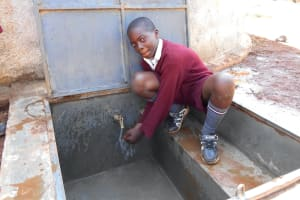 The Water Project: Ebukhuliti Primary School -  Smiles At The Rain Tank