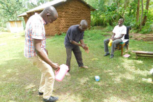 The Water Project: Imbinga Community, Imbinga Spring -  Smiles During Handwashing