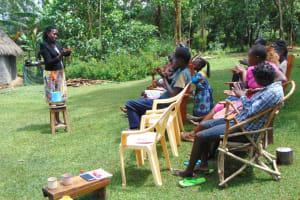 The Water Project: Buyangu Community, Mukhola Spring -  Handwashing Session