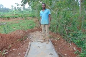 The Water Project: Kisasi Community, Edward Sabwa Spring -  Proud New Sanitation Platform Owner