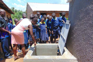 The Water Project: Mukama Primary School -  Showing The Parts Of The Access Point