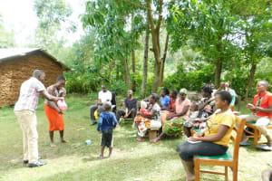The Water Project: Imbinga Community, Imbinga Spring -  Handwashing Volunteers