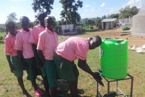 The Water Project: Mwichina Primary School -  Boys Use A Handwashing Station