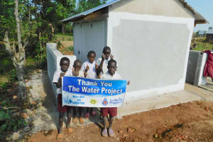 The Water Project: Mulwanda Mixed Primary School -  Boys Say Thank You For New Latrines