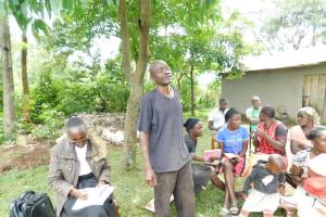 The Water Project: Imbinga Community, Imbinga Spring -  Responding To A Question