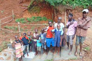 The Water Project: Bumira Community, Imbwaga Spring -  Community Celebrates The Spring