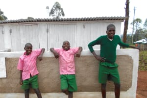 The Water Project: Ebukhayi Primary School -  Boys In Front Of Latrines