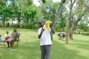 The Water Project: Imbinga Community, Imbinga Spring -  Showing Leaky Tin Creation
