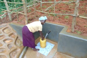 The Water Project: Jivovoli Community, Magumba Spring -  Happy Day At The Spring