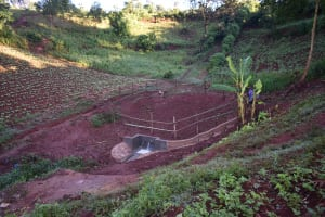 The Water Project: Busichula Community, Marko Spring -  Completed Marko Spring With Fence And Planted Grass