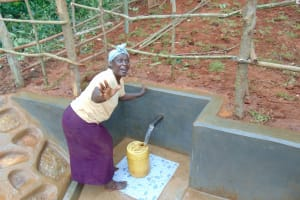 The Water Project: Jivovoli Community, Magumba Spring -  Hands Free Fetching